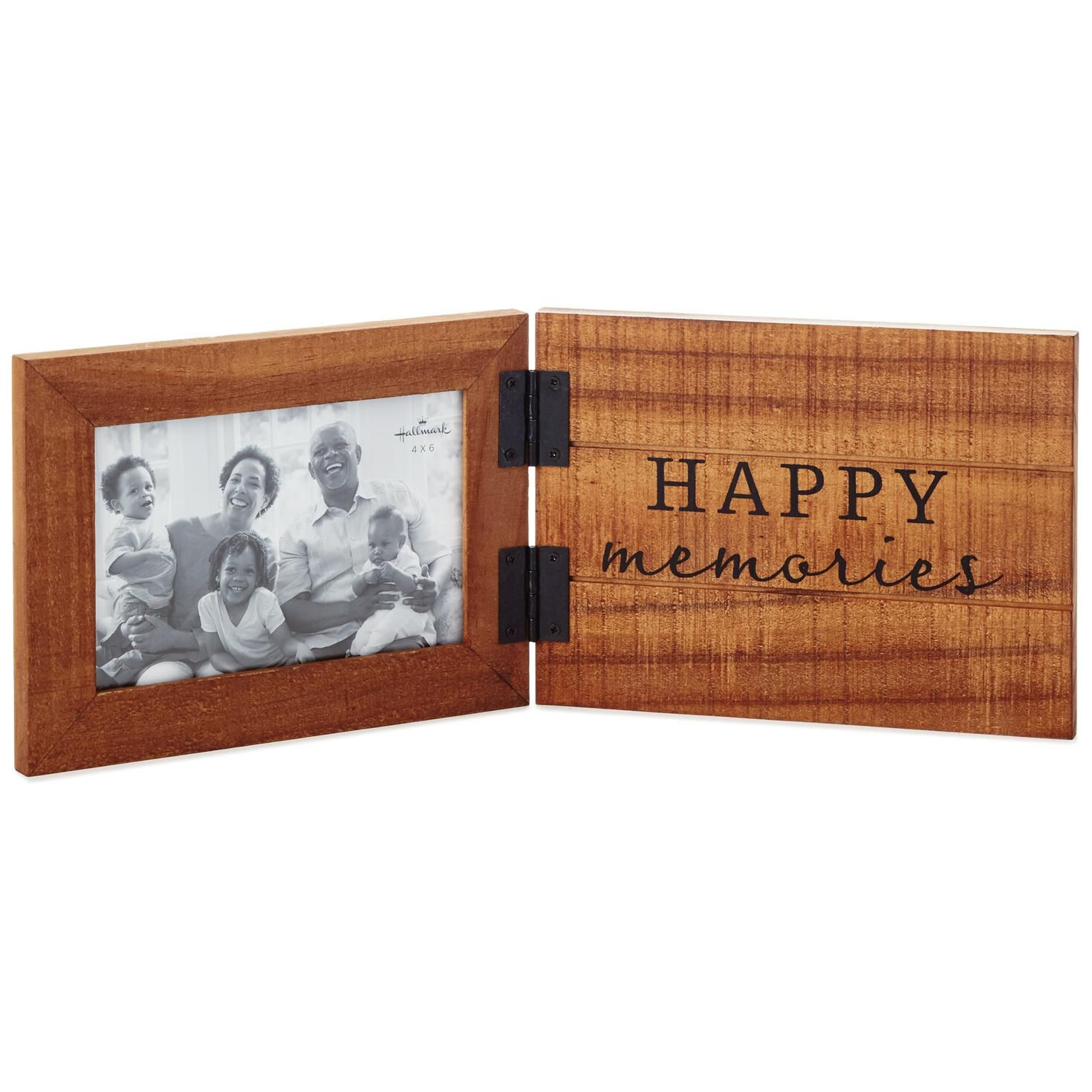 Happy Memories Rustic Wood Picture Frame, 4x6 - Picture Frames ...