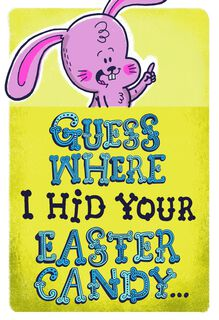 Burping Bunny Funny Easter Card,