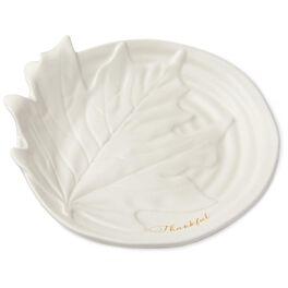 "Thankful Leaf Ceramic Appetizer Plate, 7"", , large"