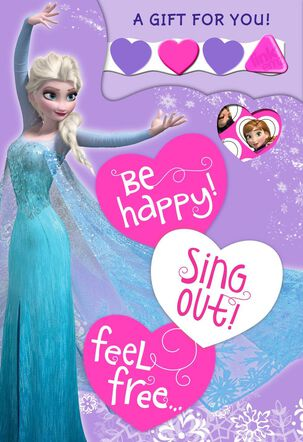 Disney Frozen Elsa Valentine's Day Card With Link'emz Wristband