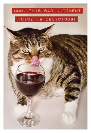 Bad Judgment Juice Birthday Card