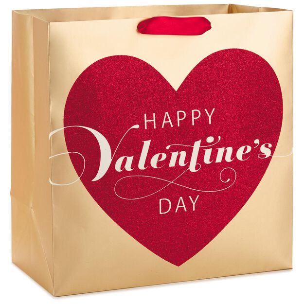 happy valentines day heart x deep gift bag