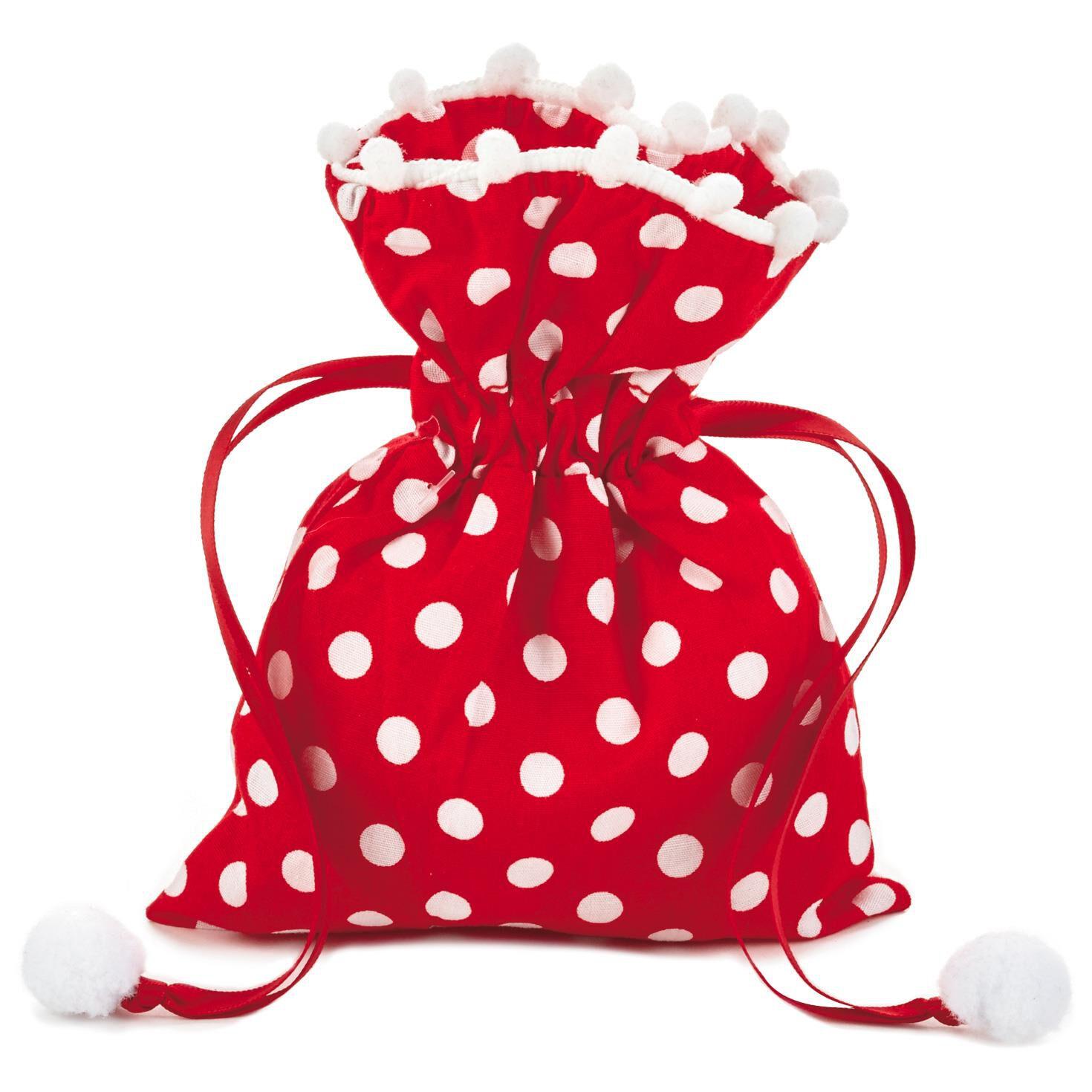 Polka Dot Small Fabric Christmas Gift Bag, 6\