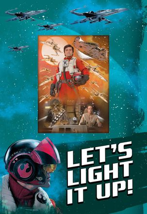 Light It Up! Star Wars™ Poe Dameron™ Birthday Card