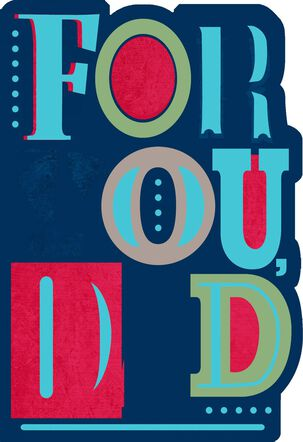 Foil and Bold Letters Father's Day Card