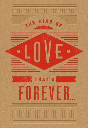 Forever Love Husband Valentine's Day Card
