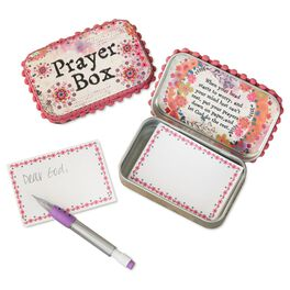 Natural Life Tin Prayer Box Pink Purple Mandala, , large