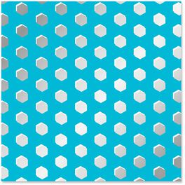 Silver Dots on Turquoise Wrapping Paper, 1 Sheet, , large