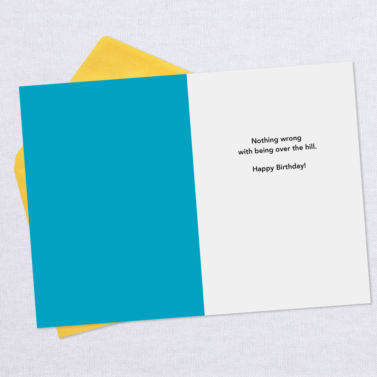 40th BIRTHDAY CARD HALLMARK Send The Very Best Milestone Over The Hill