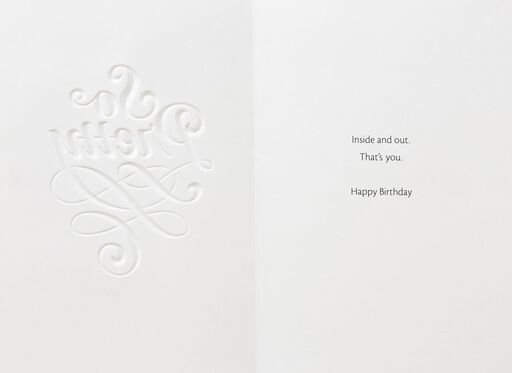 So Pretty Inside and Out Birthday Card,