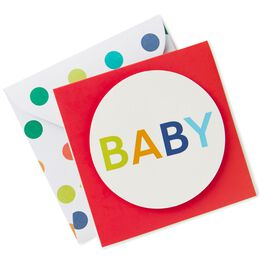 Colorful Dots Baby Gift Tag, , large