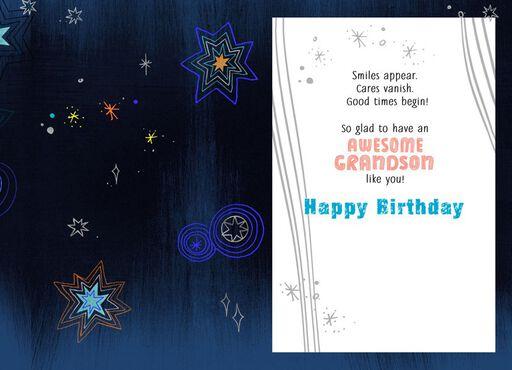 Amazing Grandson Birthday Card,