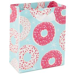 """Pink Donuts with Sprinkles Teal Small Gift Bag, 6.5"""", , large"""