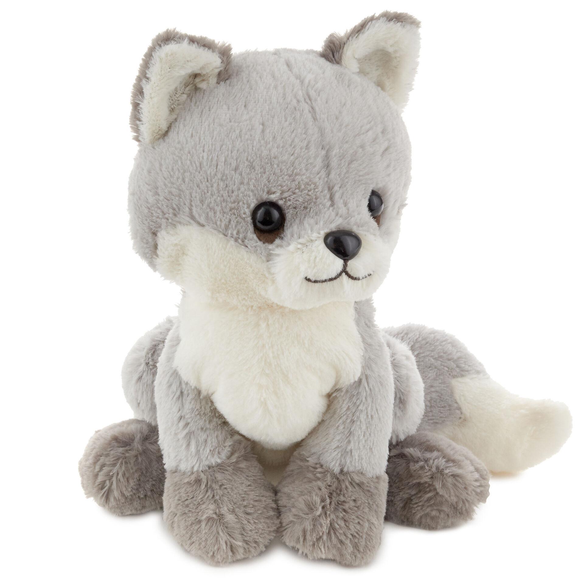 Silver Fox Stuffed Animal, Silver Baby Fox Stuffed Animal 8 Classic Stuffed Animals Hallmark