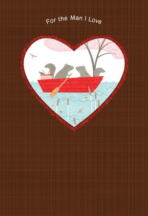 Cute Critters Valentine's Day Card for the Man I Love