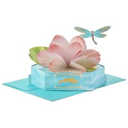 Graceful Lotus Flower Pop-Up Just Because Card, , large
