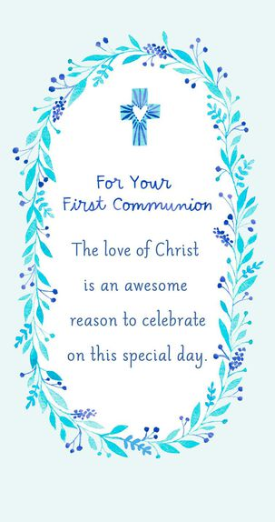Reasons to Celebrate First Communion Card