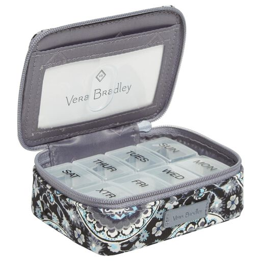 c567d9cf9391 Vera Bradley Iconic Travel Pill Case in Charcoal Medallion