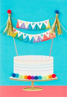 Rainbow Cake Birthday Card,