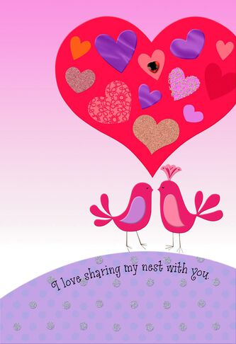 UNICEF Lovebirds Valentine\'s Day Card for Wife - Greeting Cards ...