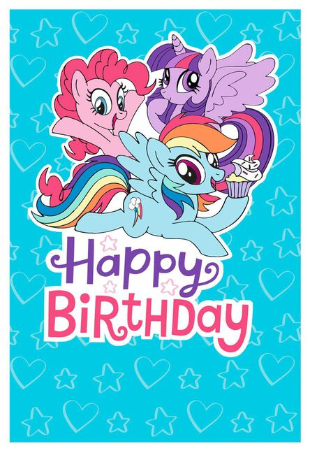 My little pony hearts and stars birthday card greeting cards my little pony hearts and stars birthday card m4hsunfo