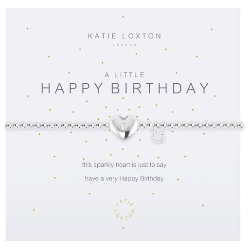Katie Loxton A Little Happy Birthday Silver Bracelet