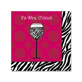 Wine O'Clock Cocktail Napkins, Pack of 12, , large