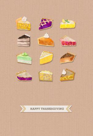 Pie Equals Thankfulness Thanksgiving Card