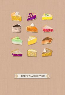 Pie Equals Thankfulness Thanksgiving Card,