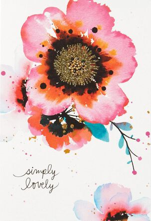 Simply Lovely Floral Thinking of You Card