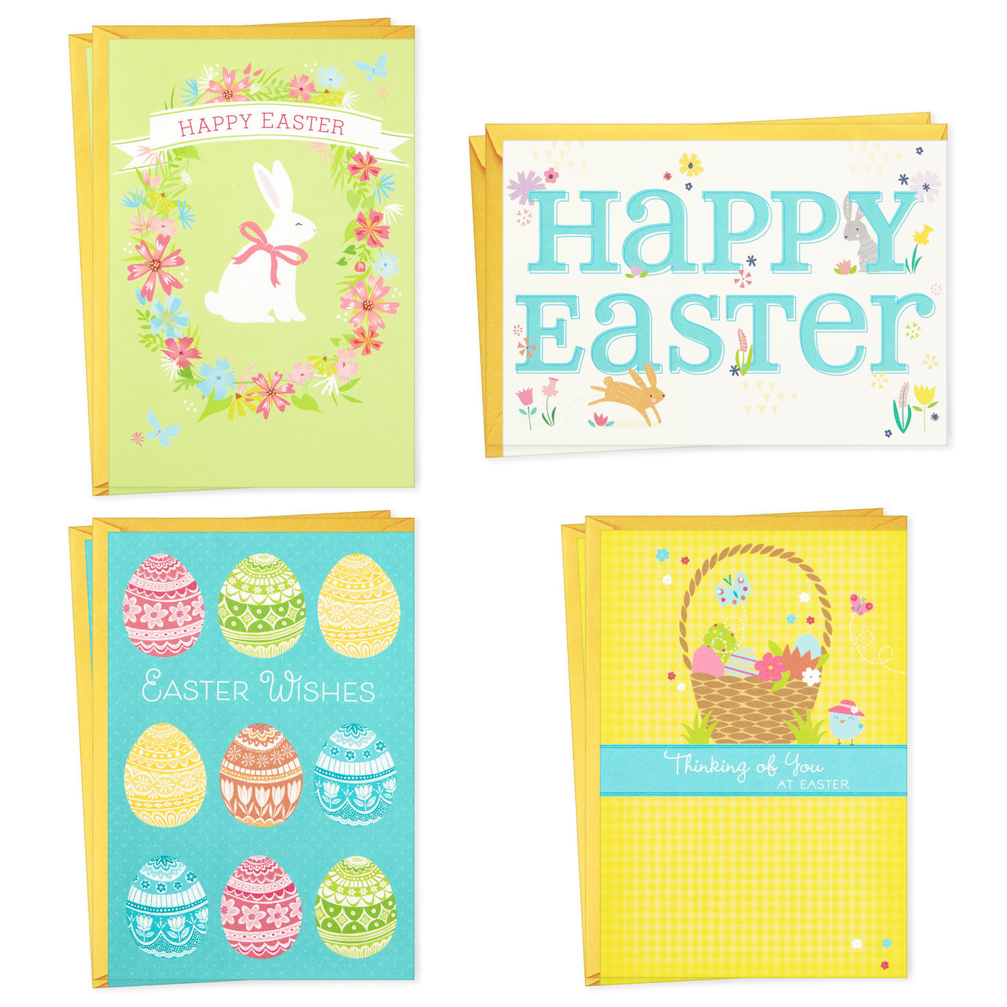 WARM WISHES Greeting Cards by HALLMARK Package of 9 BIRTHDAY and other Occasions