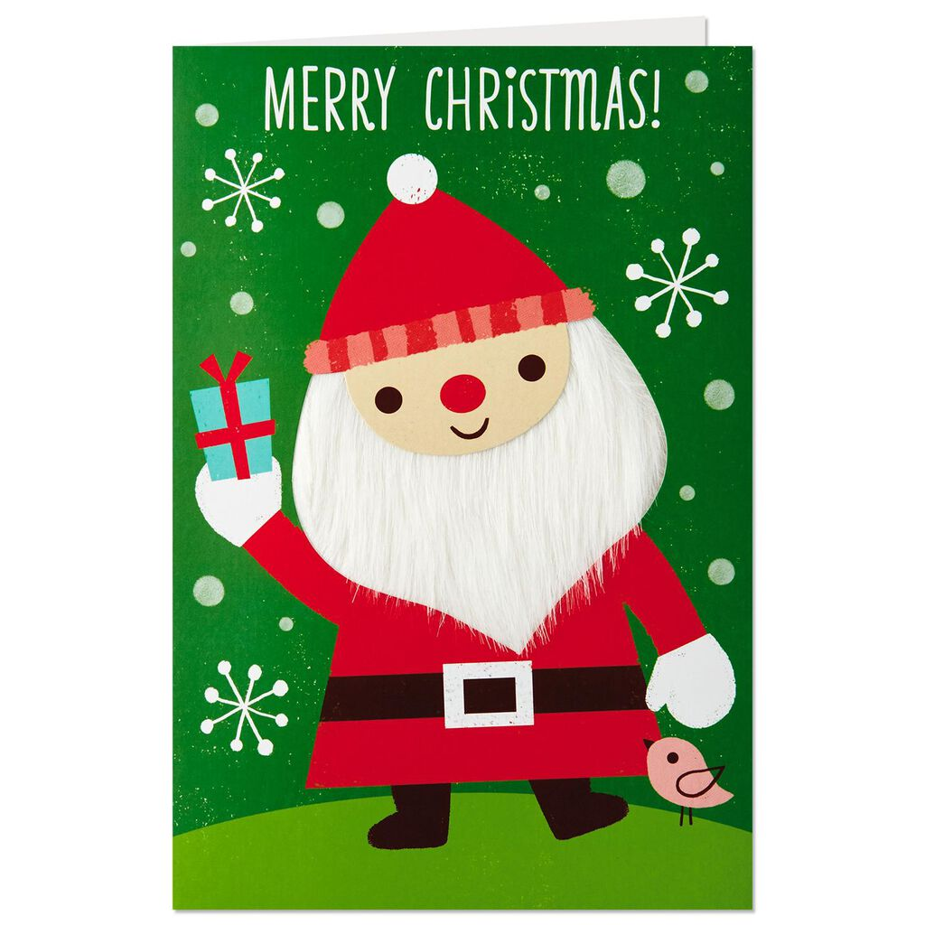 Puffy Fluffy Santa Claus Christmas Card - Greeting Cards - Hallmark