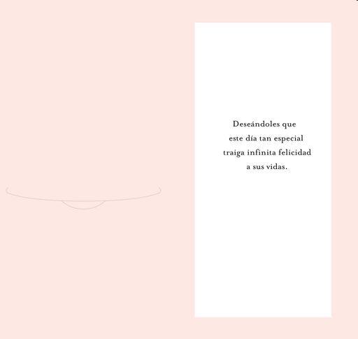 Endless Happiness Spanish-Language Money Holder Wedding Card,