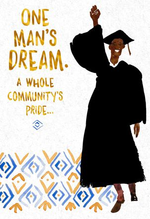 One Man's Dream Graduation Card