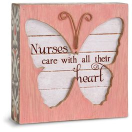 Nurse Butterfly Plaque, , large