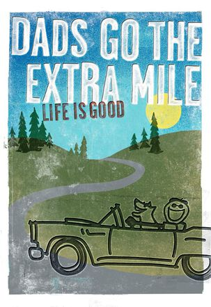 Life is Good® Dads Go the Extra Mile Father's Day Card