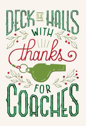 Coach Thank You Christmas Card