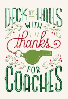 Coach Thank You Christmas Card,