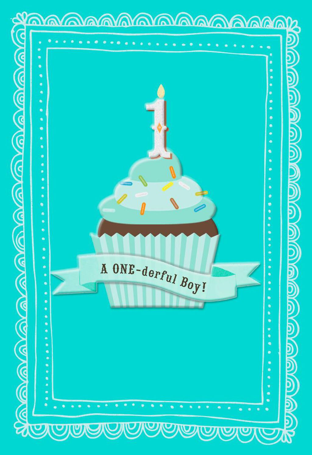 ONE Derful First Birthday Card For Boy