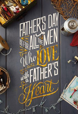 Like a Dad Loving Heart Father's Day Card