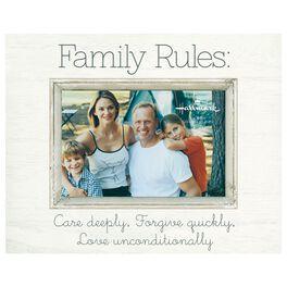 Family Rules Sunwashed Wood Photo Frame, 4x6, , large