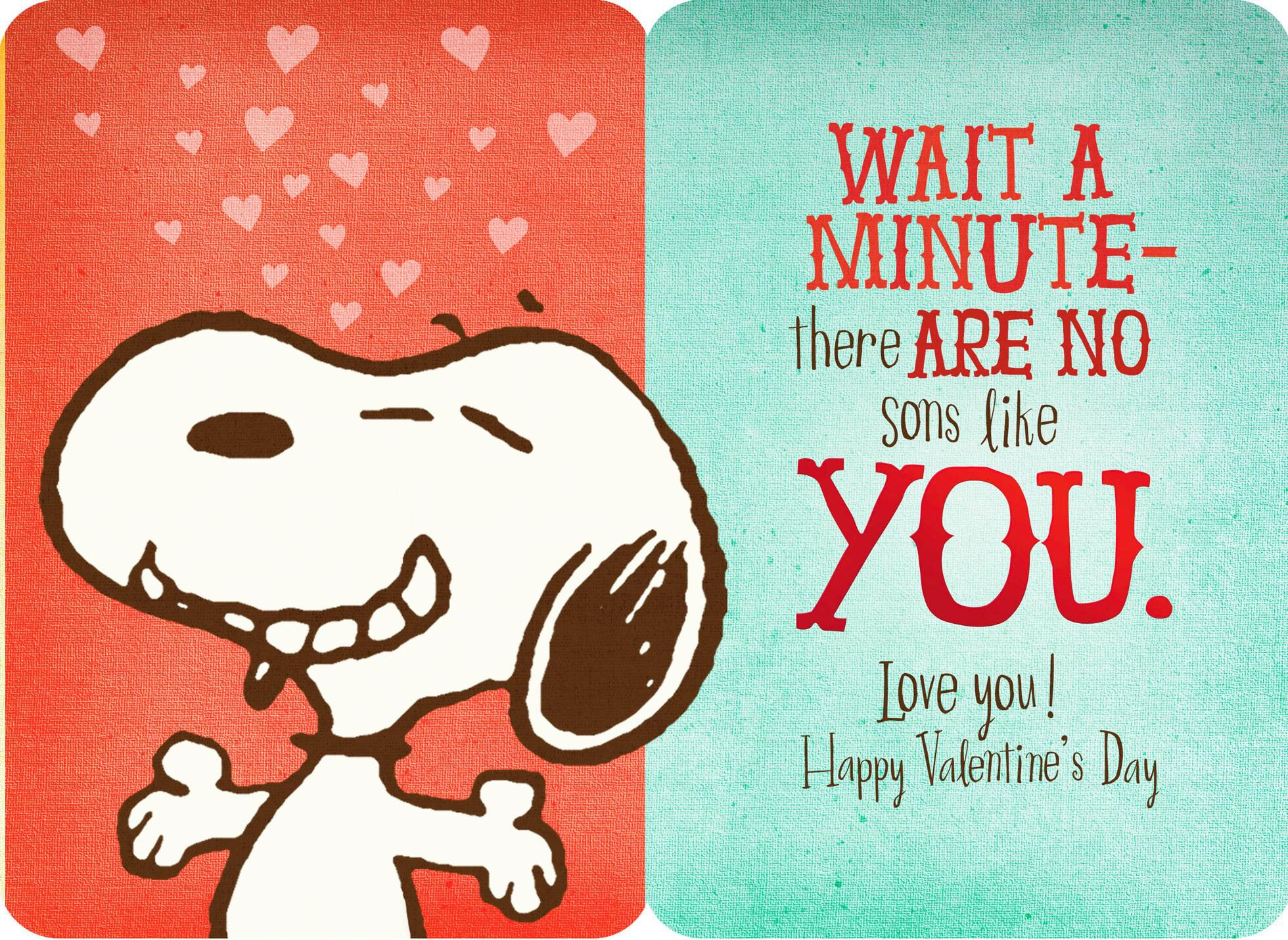Peanuts® Snoopy Sons Like You Valentineu0027s Day Card,