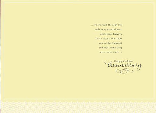A Golden Walk 50th Anniversary Card,