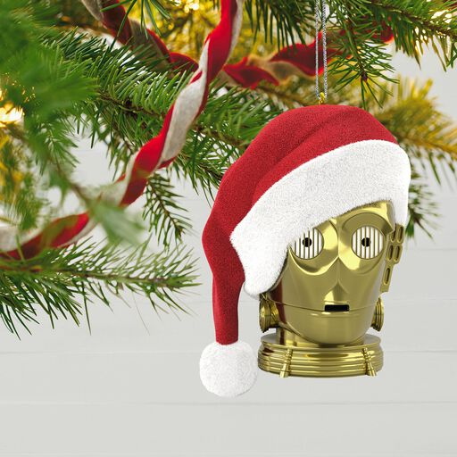 star wars holiday c 3po ornament with light and sound
