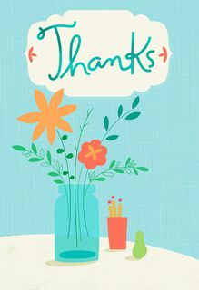 Vase of Flowers Admin Professionals Day Card,