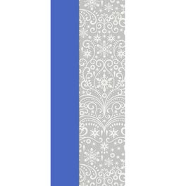 Silver Snowflakes and Solid Blue 2-Pack Tissue Paper, 6 Sheets, , large