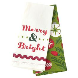 Merry & Bright Tea Towels, Set of 2, , large