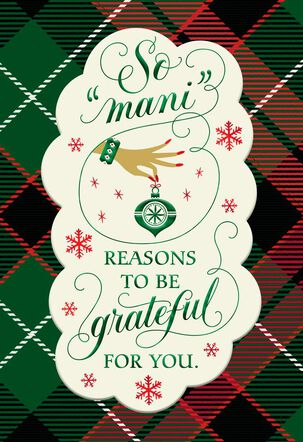 Mani Reasons Christmas Card for Service Professional