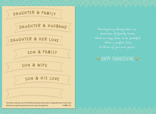 So Grateful for You Pick-a-Title Family Thanksgiving Card,