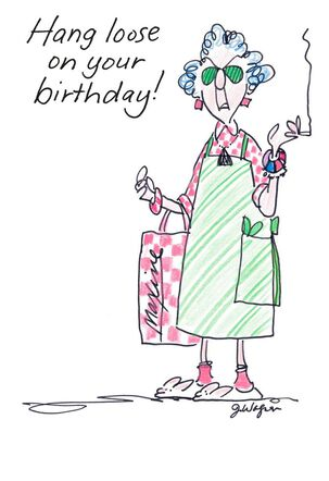 Hang Loose Funny Birthday Card